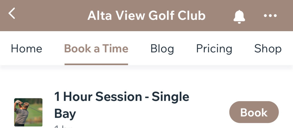 Alta View Golf Reservation Policies