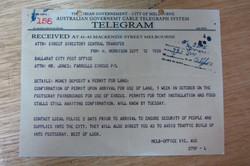 1920's Telegram