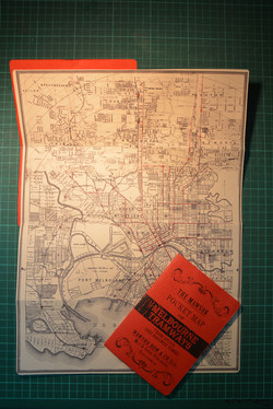 1920's Tram Pocket Map