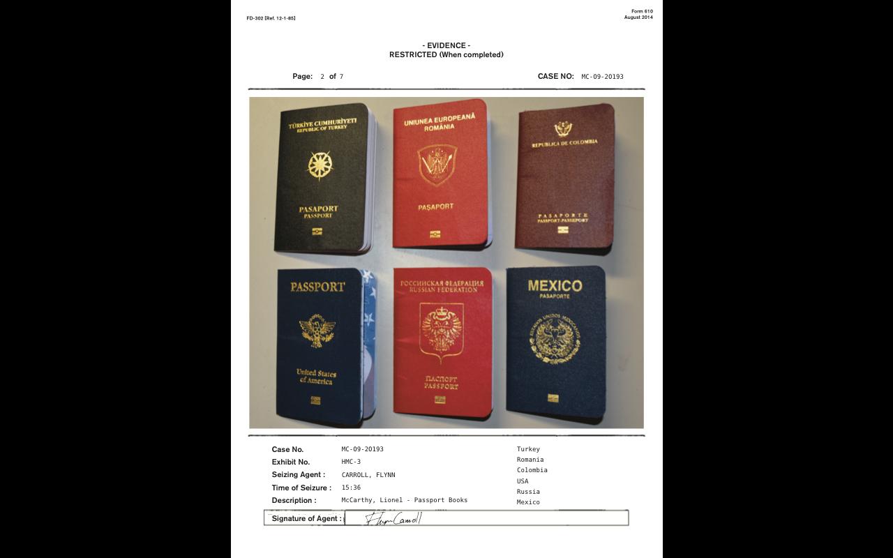 Passport - Police Evidence Doc