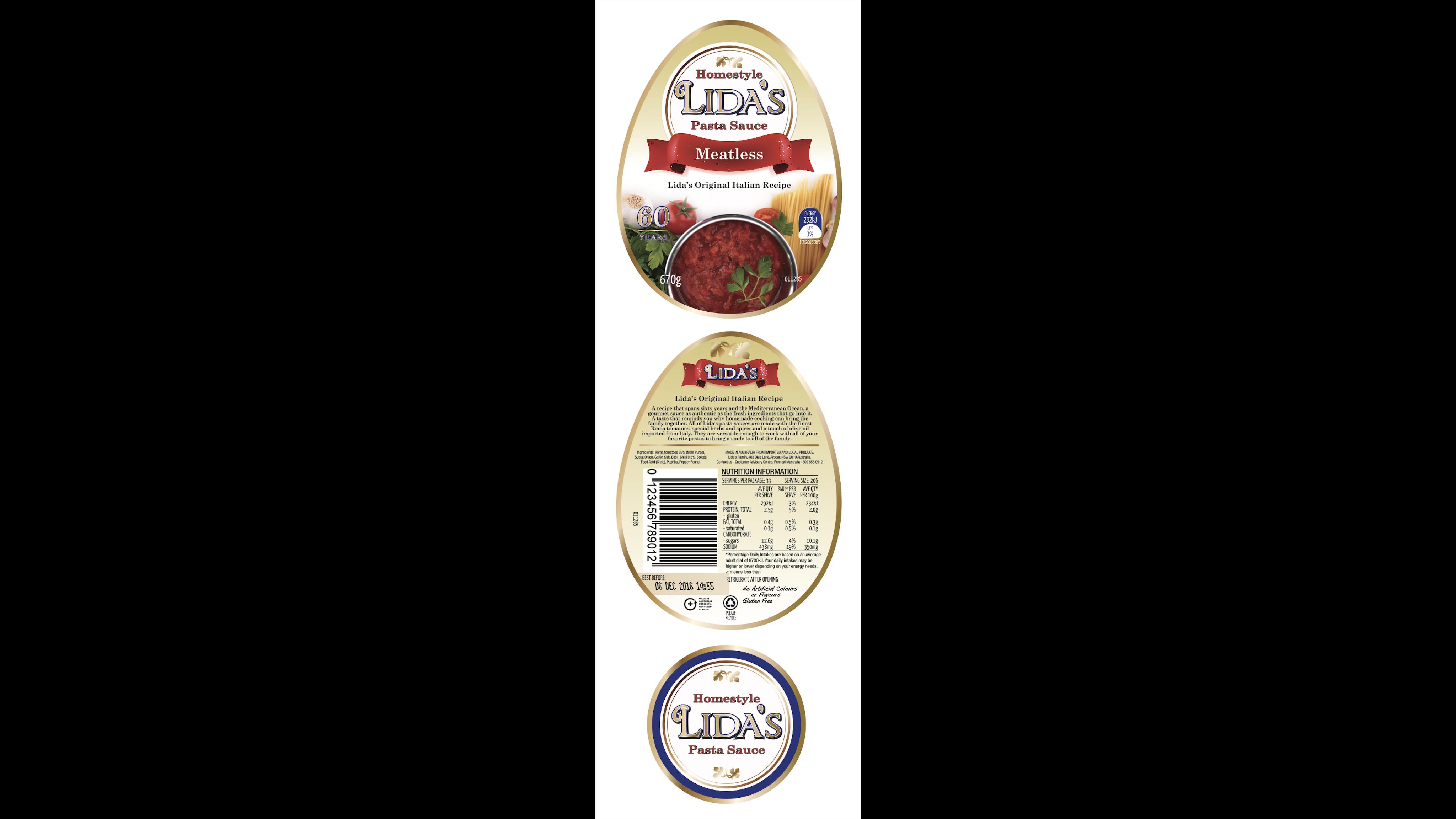 Pasta Sauce Label