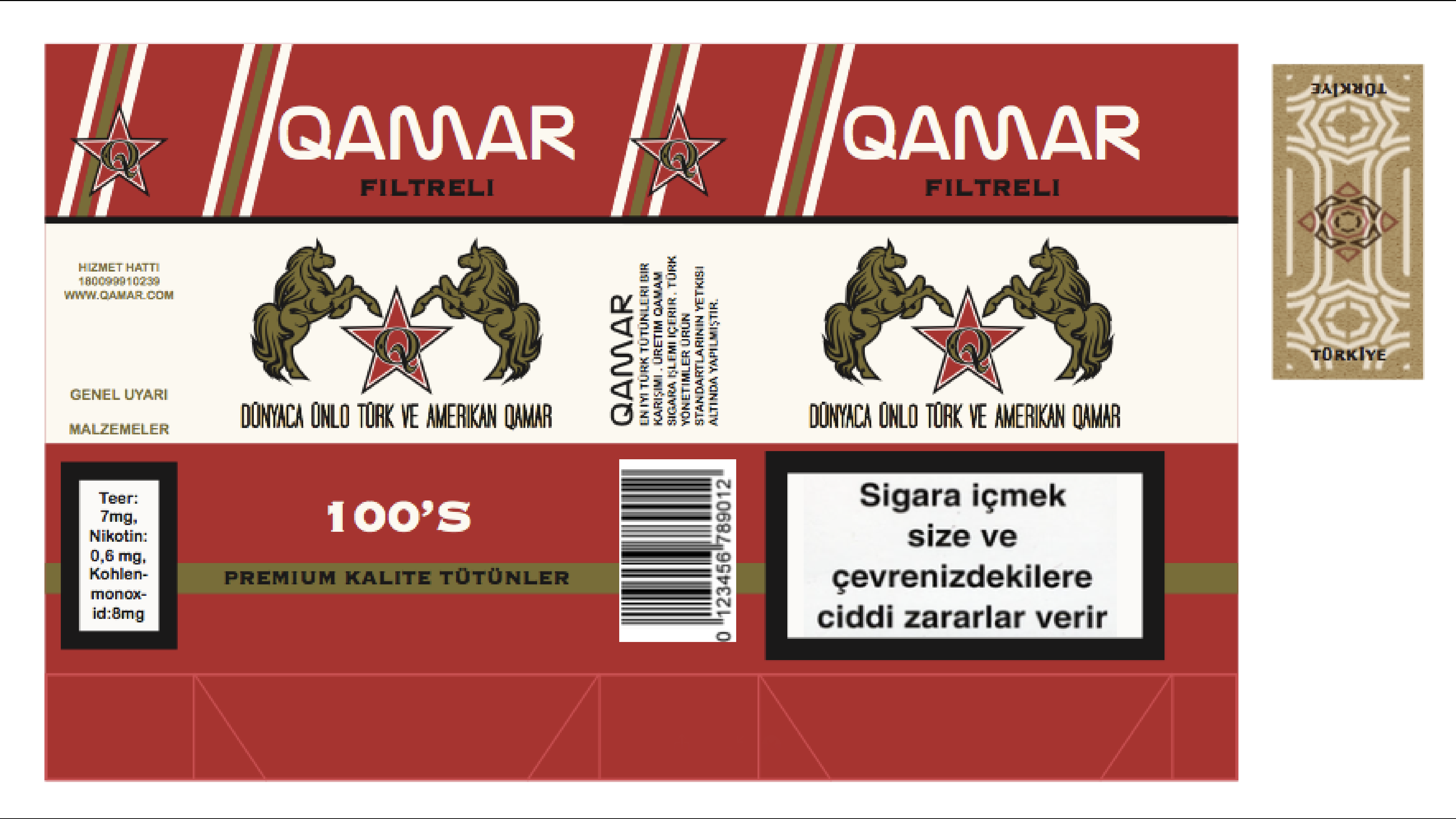 Turkish Soft Pack Label