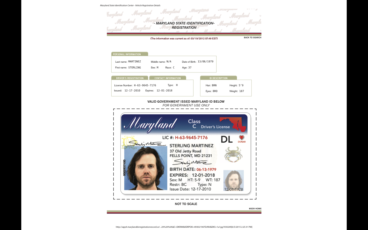 Registration ID Search