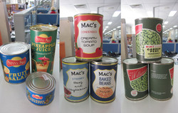 1960's Food Can Labels