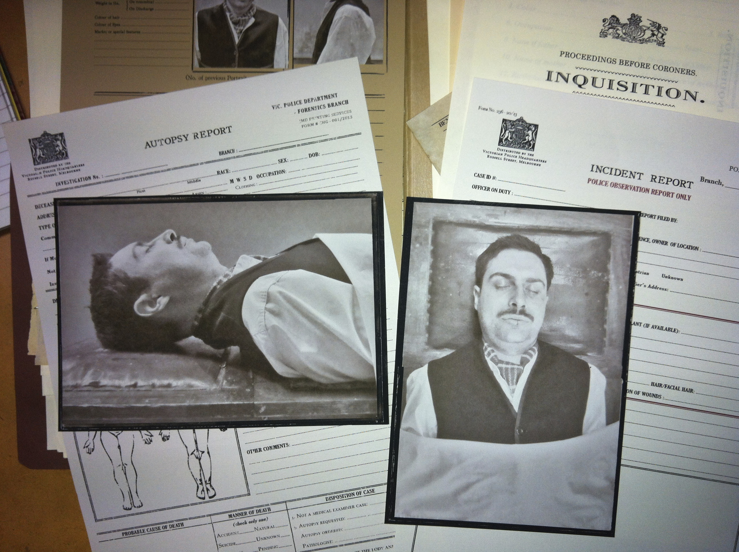 1920's Police Doc & Autopsy Photos