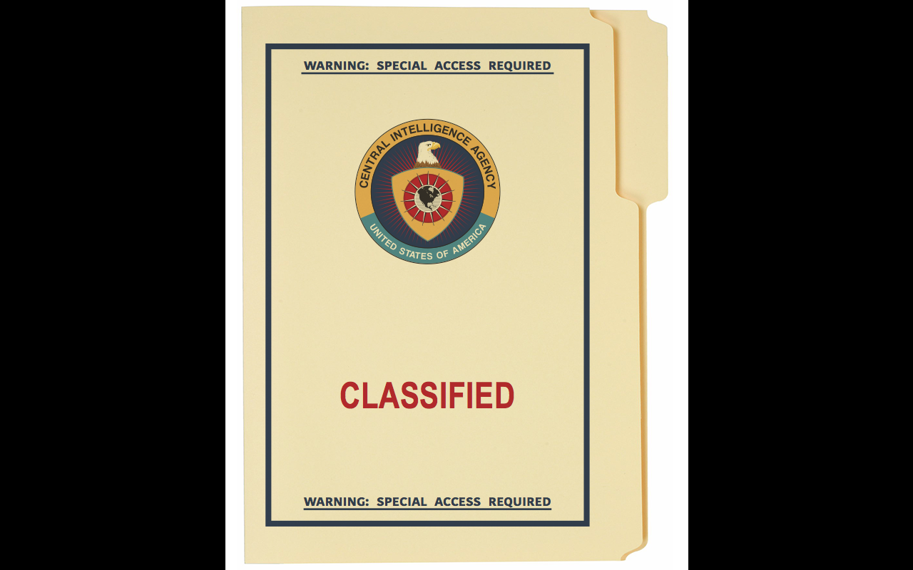 1980's CIA Classified Folder