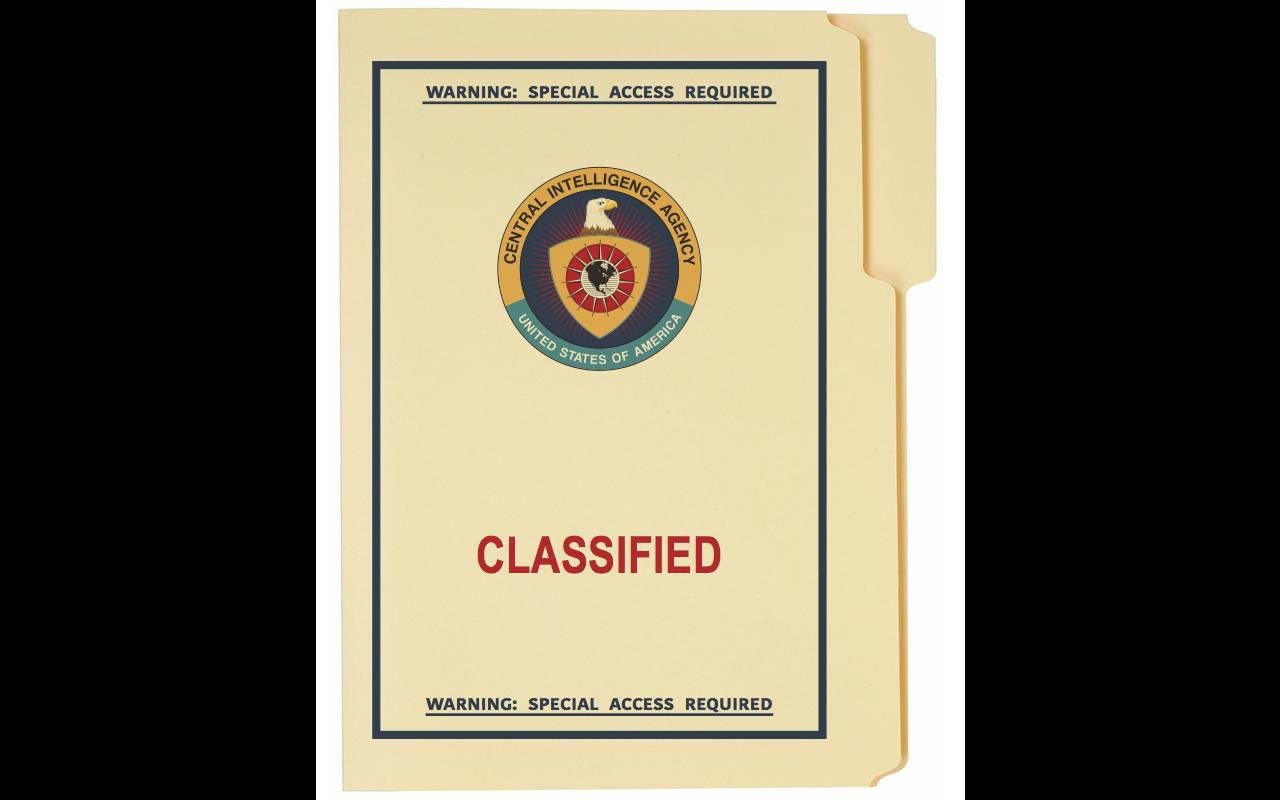 1980's CIA Classified Folder