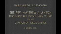 Plaque outside of Church