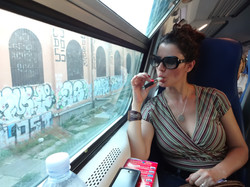 Vaping on a train
