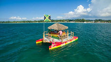 Floating-Tiki-bar-in-Negril-Jamaica-Tiki