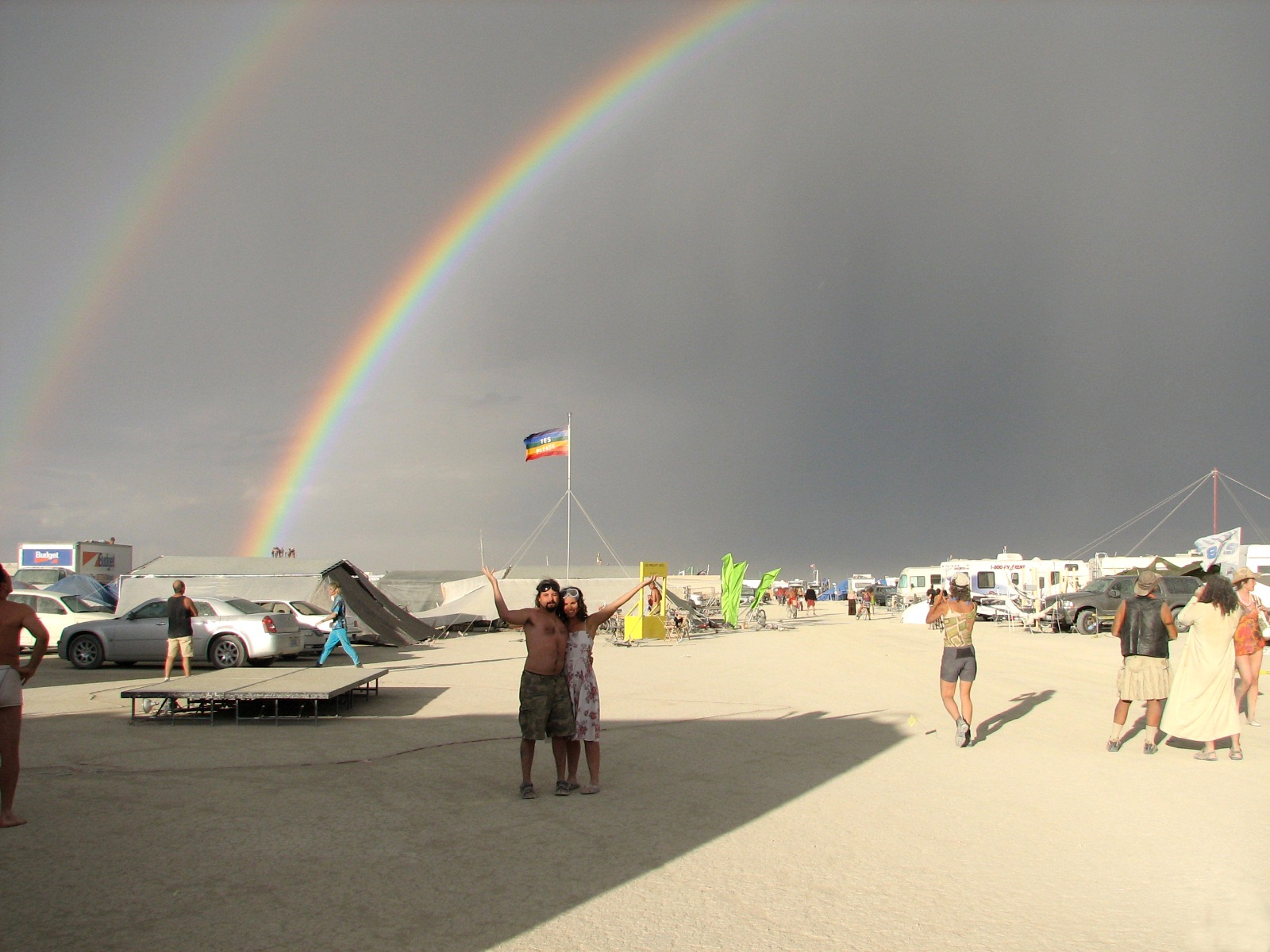 Burning Man Double Rainbow
