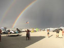 Burning Man Double Rainbow
