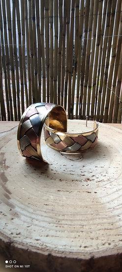 Bracelet triple métaux fait main Inde- différents modèles
