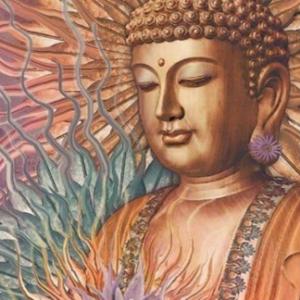 Broderie diamants Bouddha 20cm x 15cm