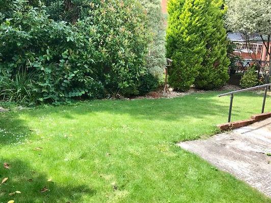 Rear garden and lawn