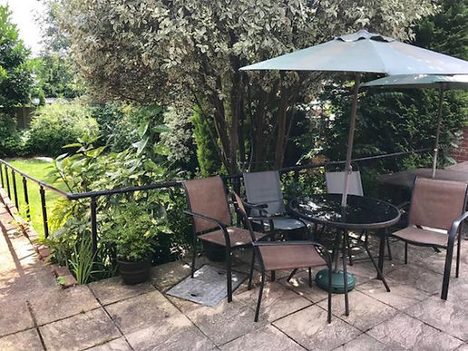 Patio garden area with seating