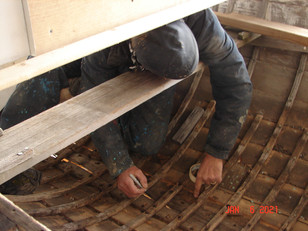 Cutting out the old keel