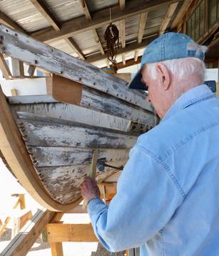 Richard removing strake rivets