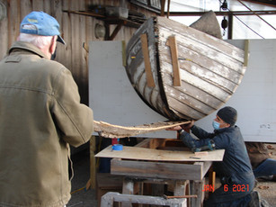 Removing the old keel