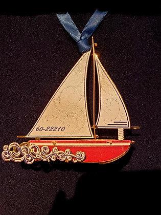 Sloop Ornament - Beacon Design