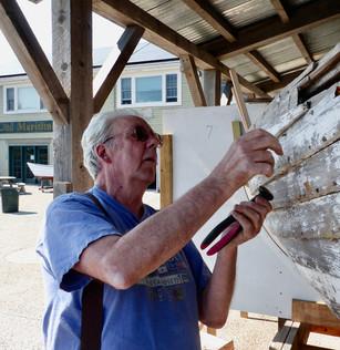 Alan pulling rivets