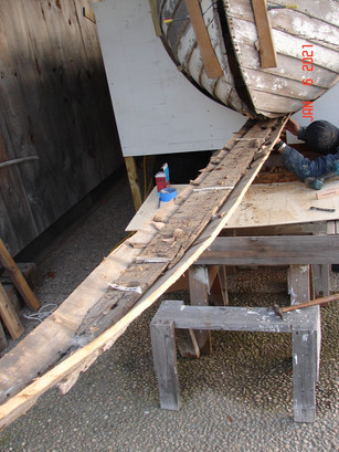 Old keel removal