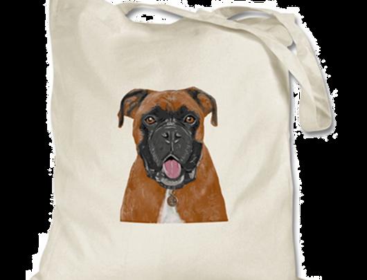 Generic Boxer Dog Natural Tote