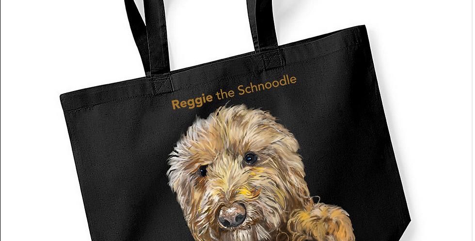 Reggie_the_Schnoodle Black Tote Shopper