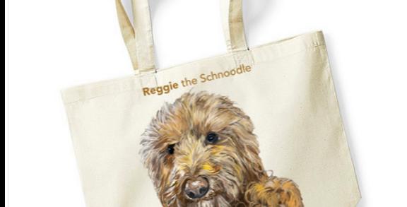 Reggie_the_ Schnoodle Natural Tote Shopper