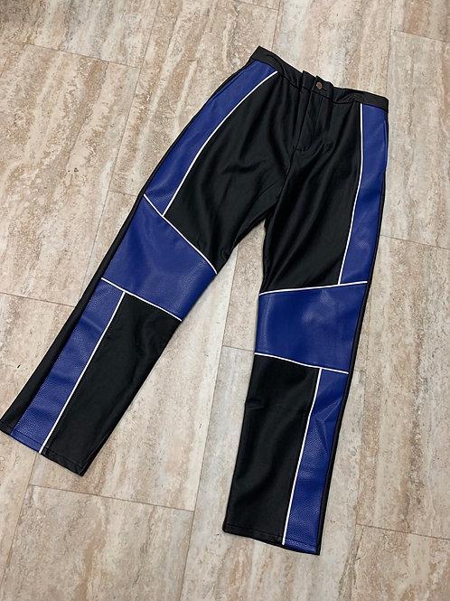 BLK/BLUE BIKER PANTS