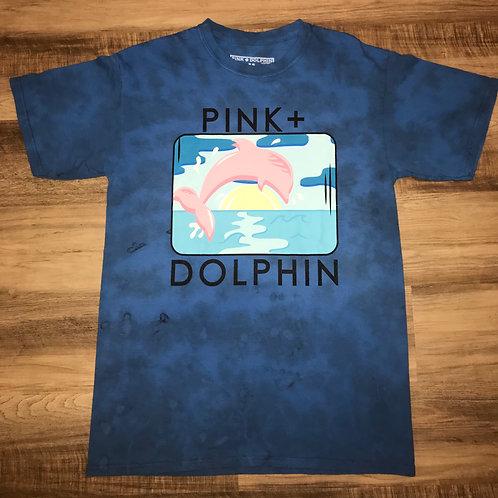 PINK DOLPHIN TIE DYE BLUE