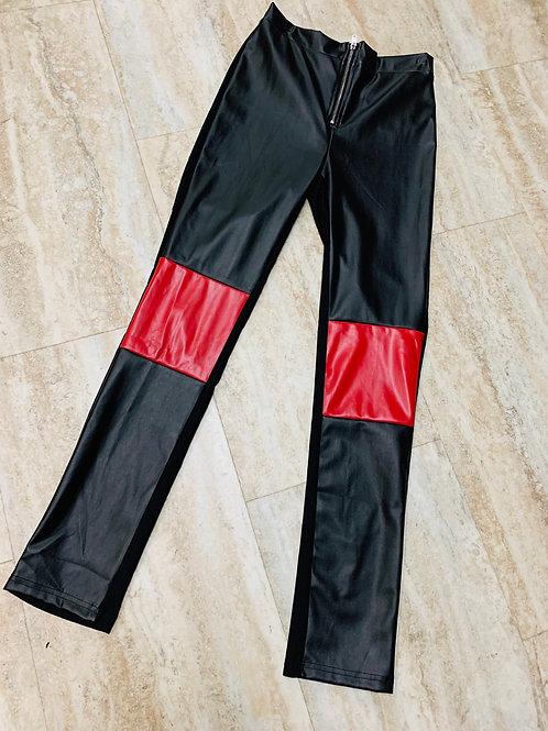 RED BLOCK PANTS