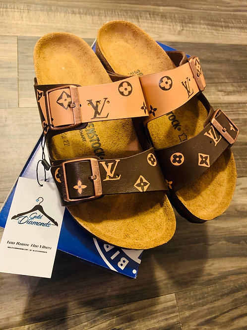 TWO-TONED LV BIRKENSTOCKS
