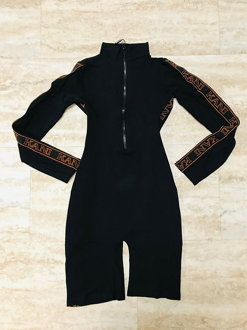 KARL KANI BLACK TAPE UNITARD