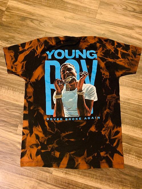 YB NBA FLAMES TEE