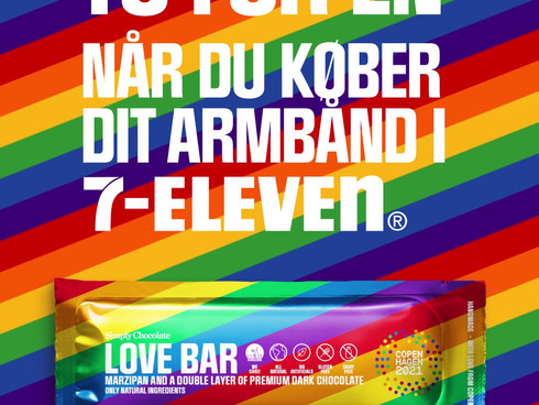 Massive partnership & owned media depolyment during CPH Pride