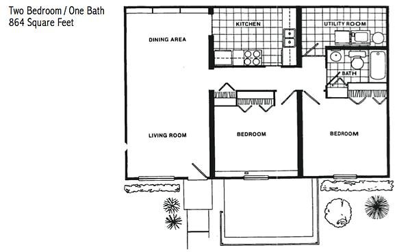two bedroom rental cartersville