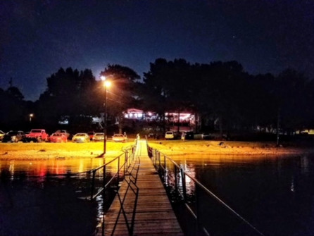 NIGHT VIEW FROM THE DOCK