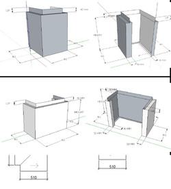 Custom made ACM panels Columns