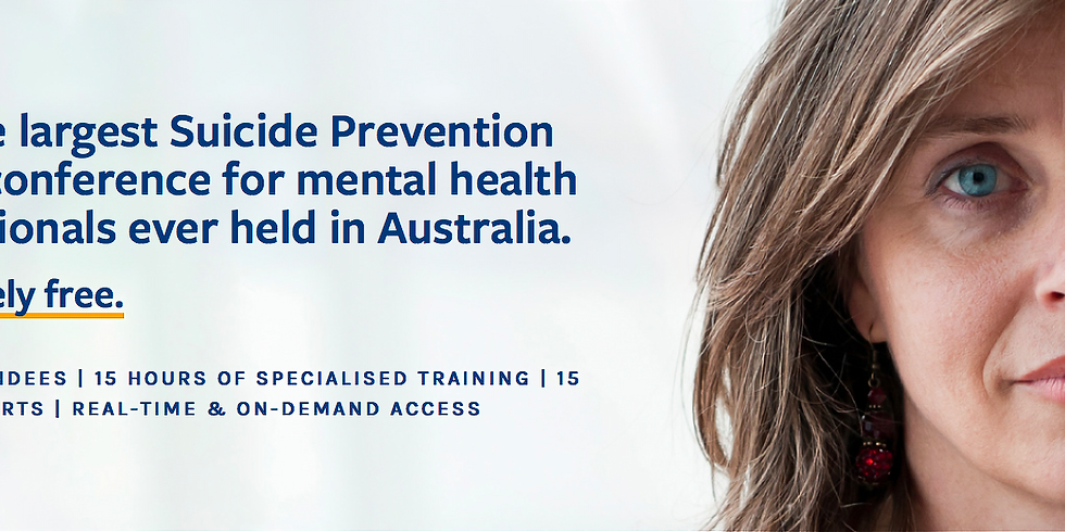 Suicide Prevention online conference for mental health professionals