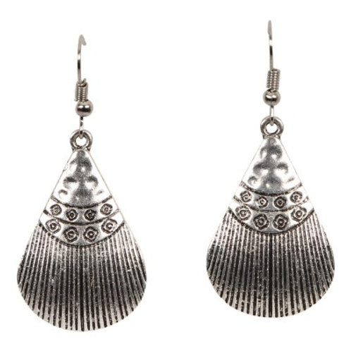 Luxor Shell Earrings Silver