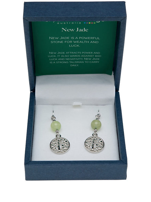 New Jade Tree of Life Earrings