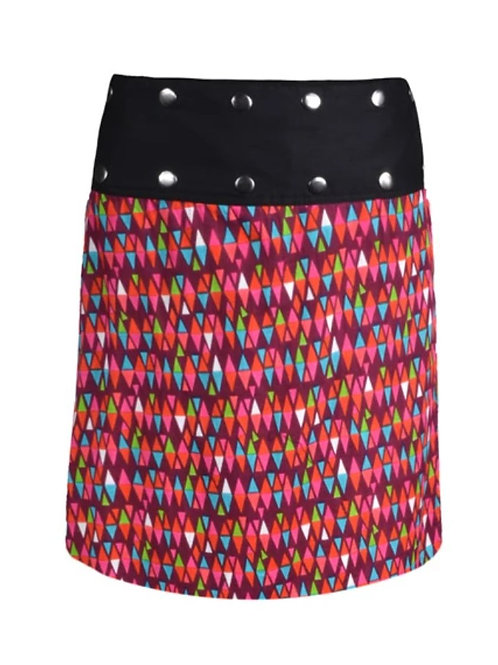 Reversible cotton wrap skirt Tipi Black