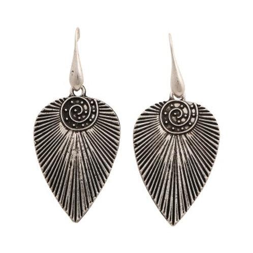 Mohican Earrings Silver