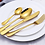 Thumbnail: LUXURY GOLD CUTLERY HIRE per 10 place settings