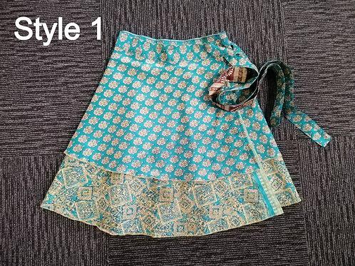 Gypsy Wrap Skirt- Reversible- Short