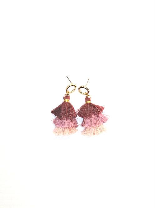 Taya Earrings Pink