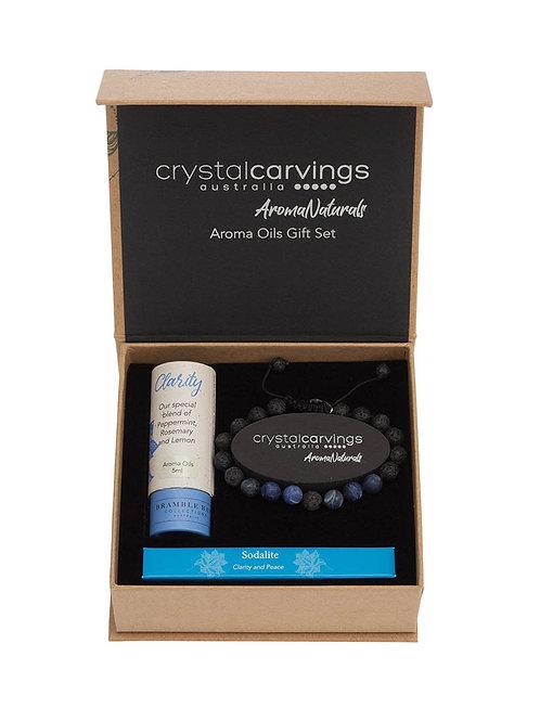 Clarity/Sodalite & Lava Stone Bracelet Aroma Set
