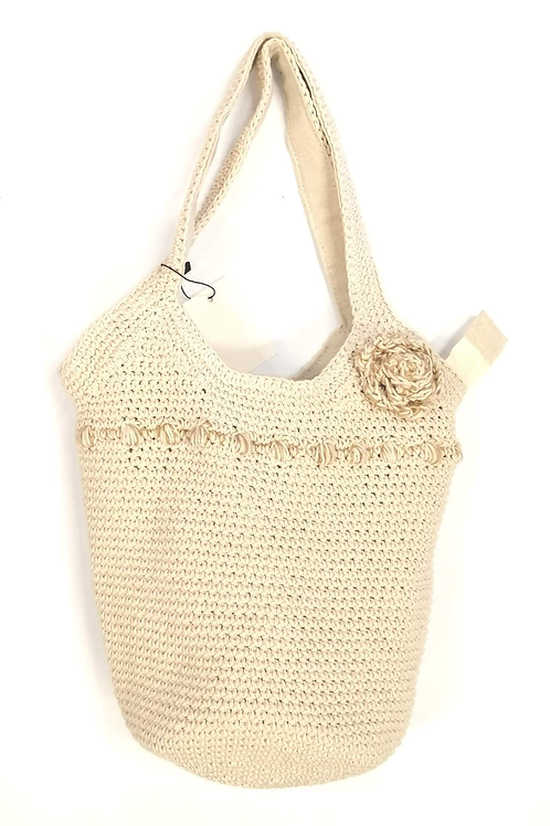 Molly Macrame Bag Cream