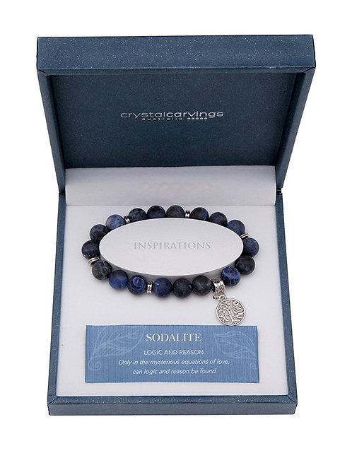 Sodalite Matte Tree of Life Bracelet Matte